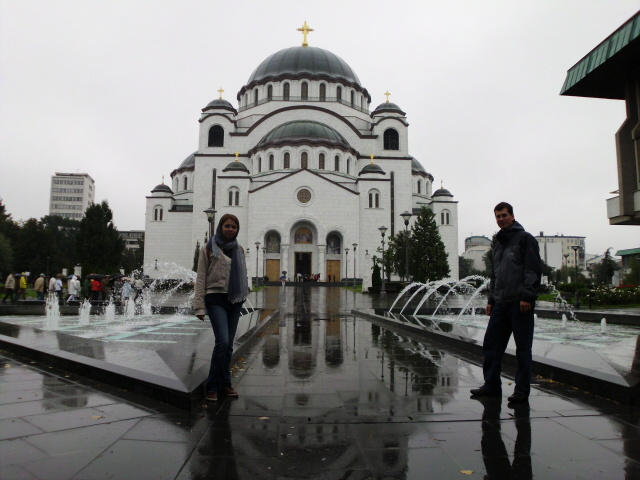 Pravoslavný chrám v Bělehradu