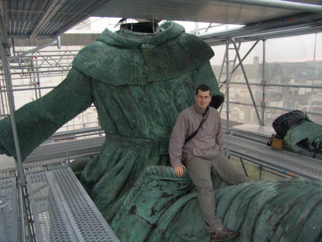 Kterak si osedlat jezdeckou sochu Jana Žižky na Vítkově